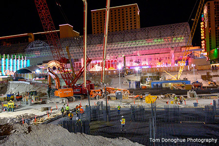 First concrete poured at brand new Circa Resort in downtown Las Vegas