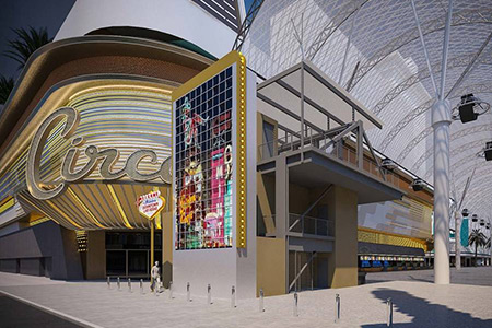 Fremont Street Experience sign to show downtown through decades