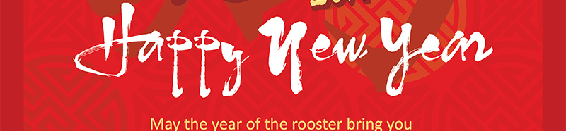 May the year of the rooster bring you happiness, inspiration, good health, and lasting prosperity.