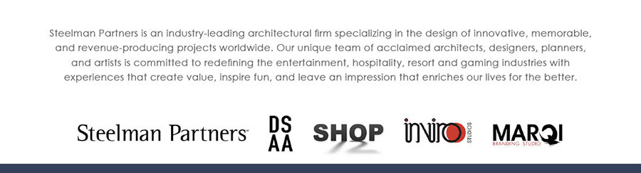 Steelman Partners is an industry leading architectural firm specializing in the design of innovative, memorable, and revenue-producing projects worldwide.